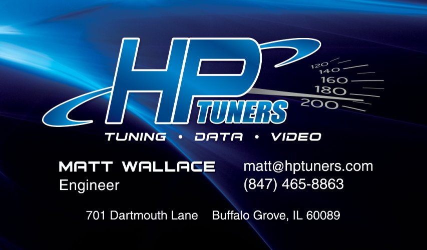 HP Tuners Business Card