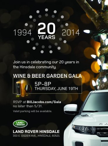 Land Rover Garden Party Flyer