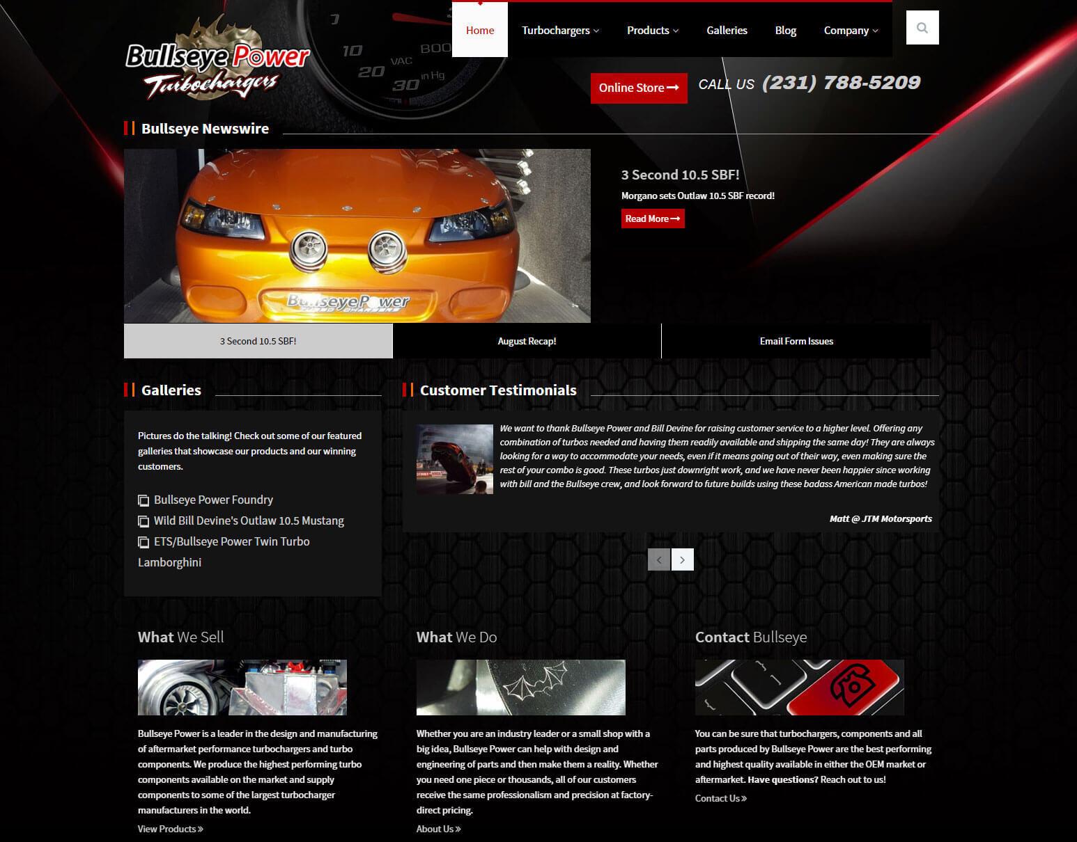 Bullseye Turbo - Website Design and Development   visionsConnect
