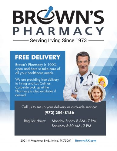 Brown's Pharmacy Delivery Flyer