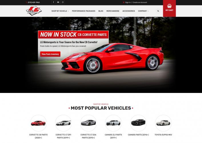 LG Motorsports – Magento 2 Redesign